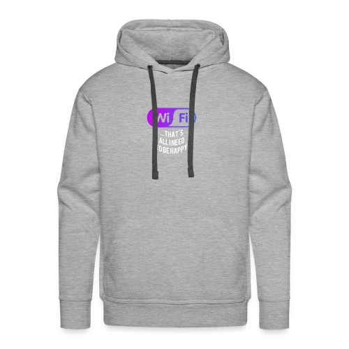 WIFI that`s all i need to be happy Logo - Männer Premium Hoodie