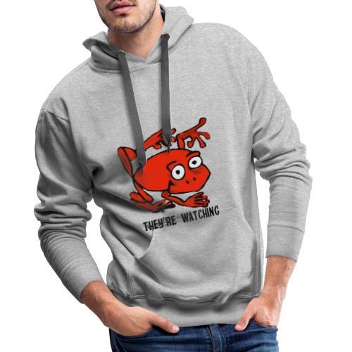 red frog - Felpa con cappuccio premium da uomo
