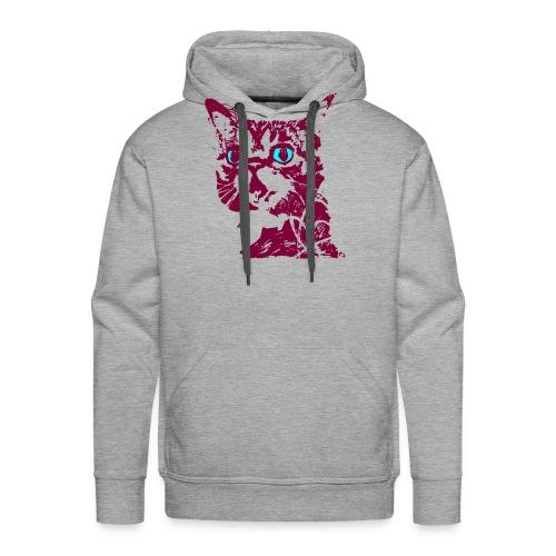 chat violet - Sweat-shirt à capuche Premium pour hommes