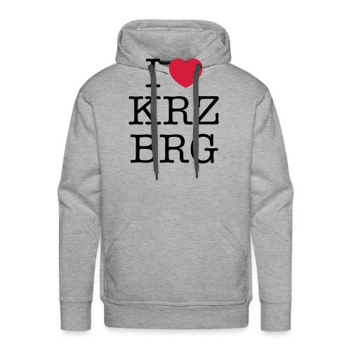 I love KRZBRG - Männer Premium Hoodie