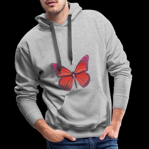 D28 monarch butterfly red lajarindream 4500px - Sudadera con capucha premium para hombre