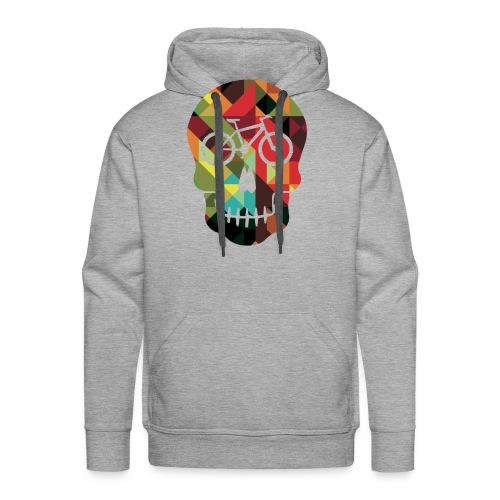 Colored Skull of Biker - Felpa con cappuccio premium da uomo