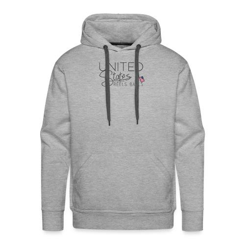 US of Réels Bails - Sweat-shirt à capuche Premium pour hommes