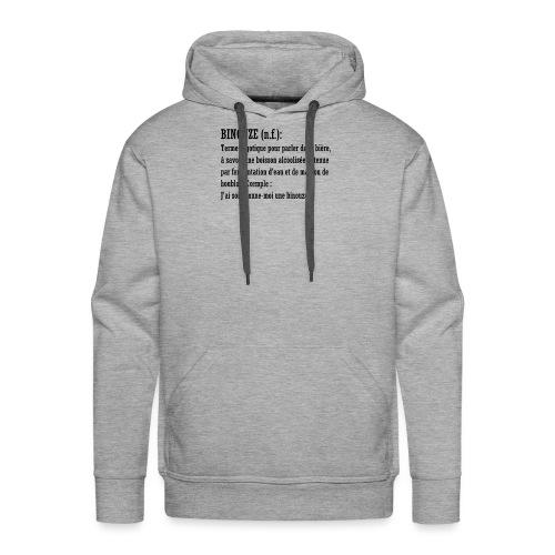 Dicobière - Sweat-shirt à capuche Premium pour hommes