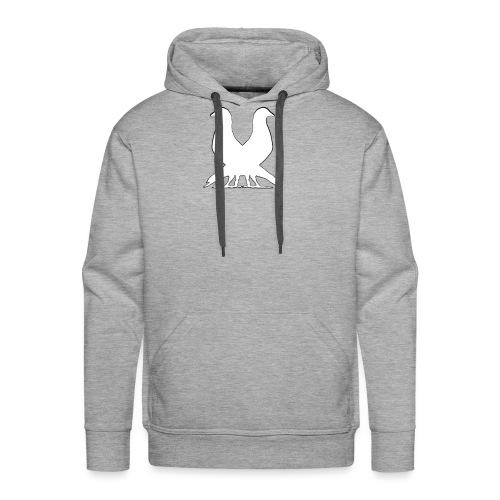 2pigeonswhite png - Men's Premium Hoodie