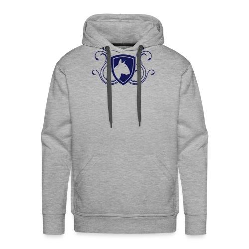 Bullterrier Wappen 1c - Männer Premium Hoodie