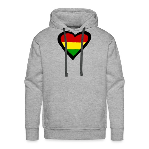 LOGO 1 RASTA BACKWARDS - Mannen Premium hoodie