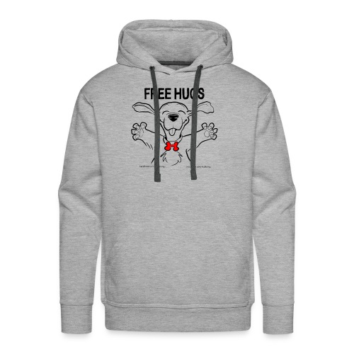 Free Hugs Premium Hugs - Felpa con cappuccio premium da uomo