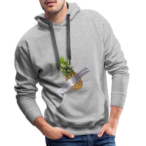 Pineapple Art - Felpa con cappuccio premium da uomo