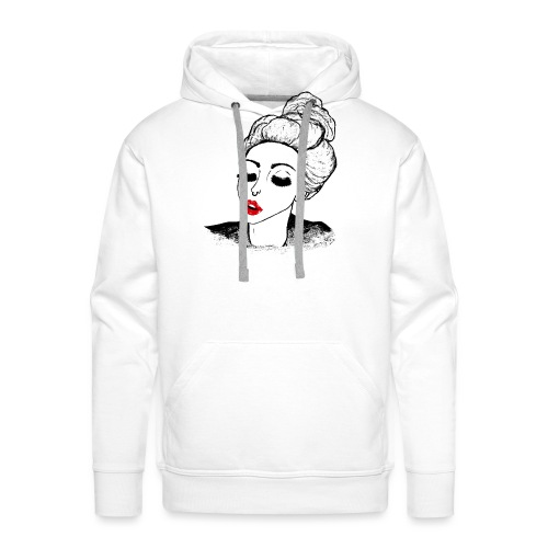 Vintage Retro Girl Kiss message - Men's Premium Hoodie