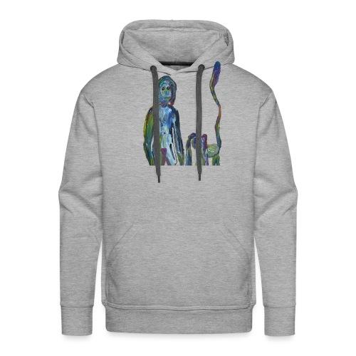 la dame et son animal domestique - Sweat-shirt à capuche Premium pour hommes