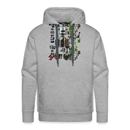 techno sexy - Sweat-shirt à capuche Premium pour hommes