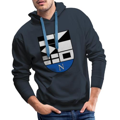 1200px Coat of arms of Neringa Lithuania svg - Männer Premium Hoodie