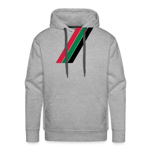 Rood groen zwarte banen - Mannen Premium hoodie