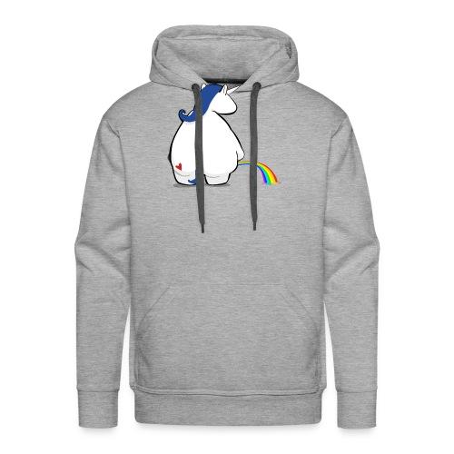 Regenbogen pinkelndes Einhorn - Männer Premium Hoodie