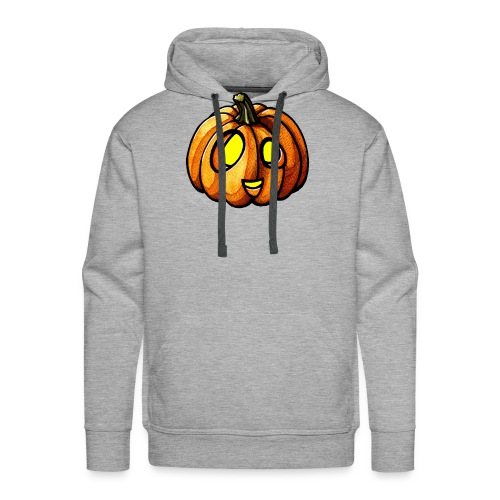 Pumpkin Halloween watercolor scribblesirii - Bluza męska Premium z kapturem