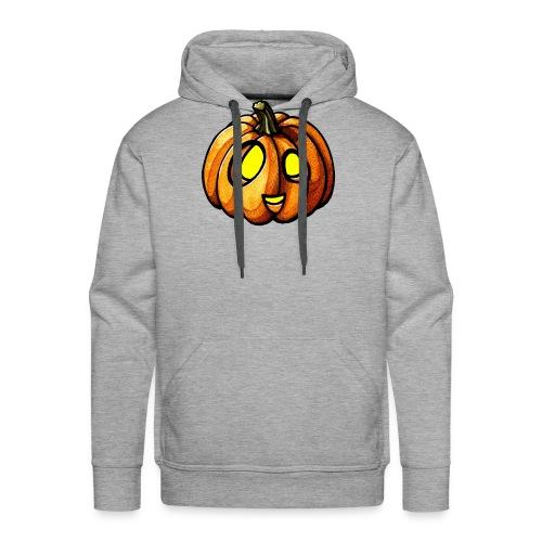 Pumpkin Halloween watercolor scribblesirii - Herre Premium hættetrøje