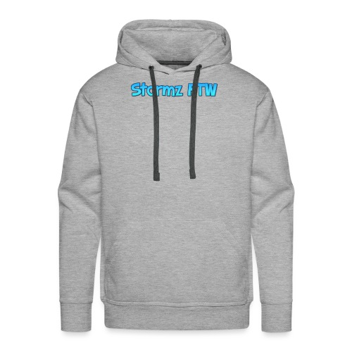 Stormz FTW blue and white fade - Men's Premium Hoodie