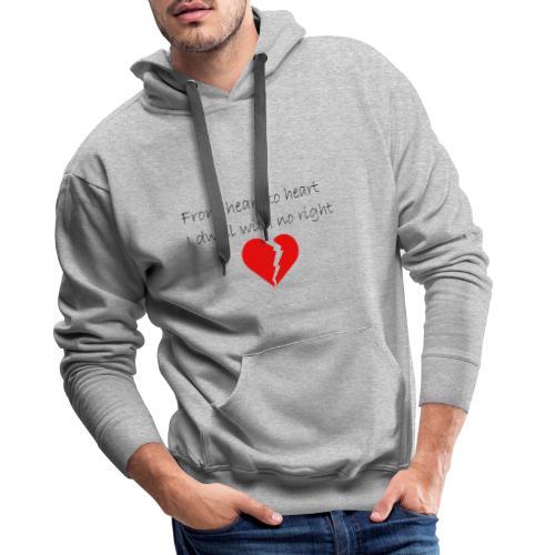 I dwell with no right - Sweat-shirt à capuche Premium pour hommes