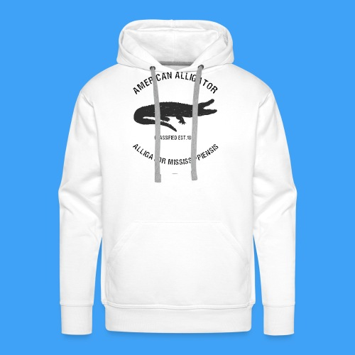 American Alligator black - Mannen Premium hoodie