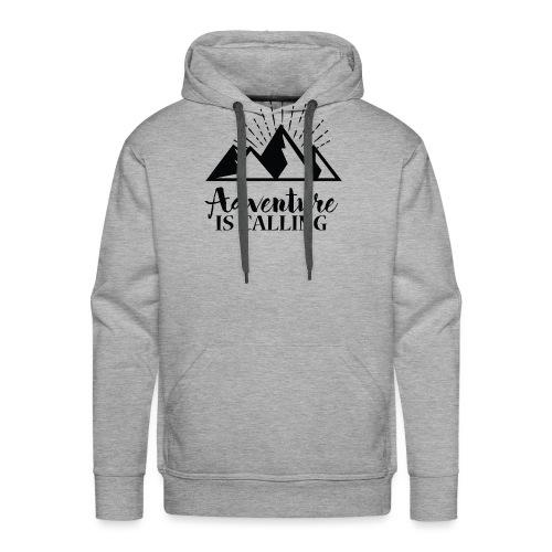 Adventure is calling Camping Mountain Go Explore - Sweat-shirt à capuche Premium pour hommes