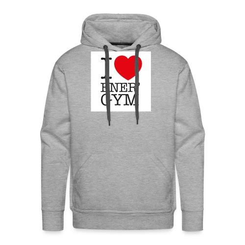 I love Ener'gym - Sweat-shirt à capuche Premium pour hommes