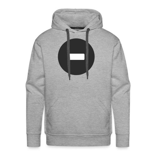 White-black button - Men's Premium Hoodie