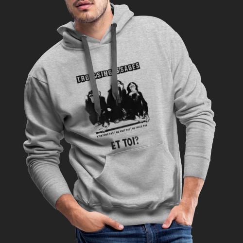 Three wise monkeys - Sweat-shirt à capuche Premium pour hommes
