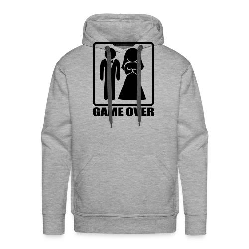 Mariage game over - Sweat-shirt à capuche Premium pour hommes