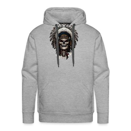 Skull indian - Männer Premium Hoodie