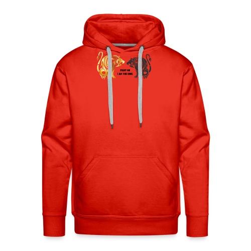 fight me #lion #king - Sweat-shirt à capuche Premium pour hommes