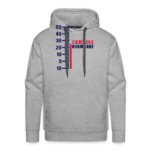 thermometre canicule normande humour - Sweat-shirt à capuche Premium pour hommes