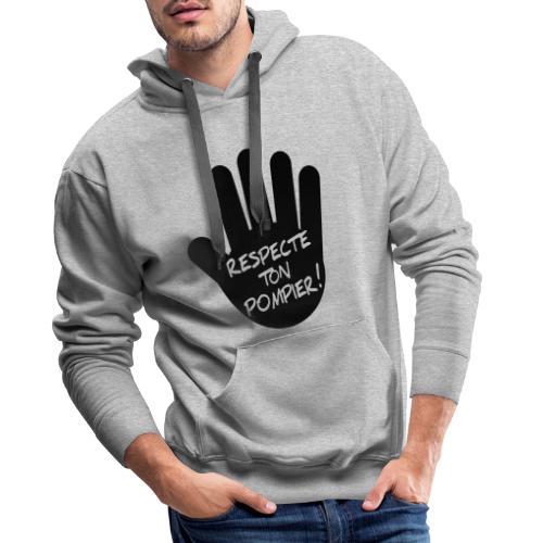 respect_ton_pompier - Sweat-shirt à capuche Premium pour hommes