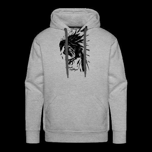 raven_tribal - Männer Premium Hoodie
