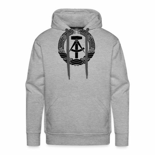 DDR coat of arms (black) - Men's Premium Hoodie
