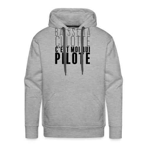 Le Pilote - Sweat-shirt à capuche Premium pour hommes
