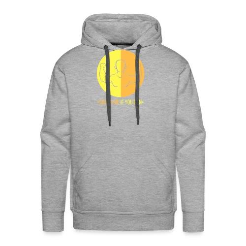 Muscle jaune orange - Sweat-shirt à capuche Premium pour hommes