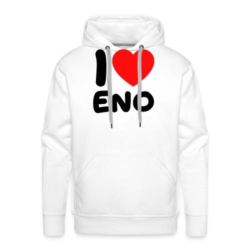 I love Eno / musta - Miesten premium-huppari