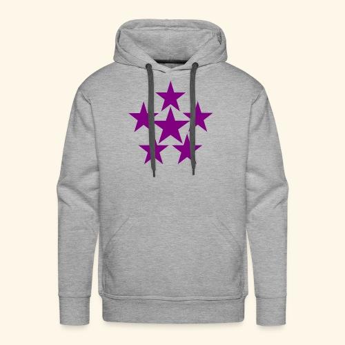 5 STAR lilla - Männer Premium Hoodie