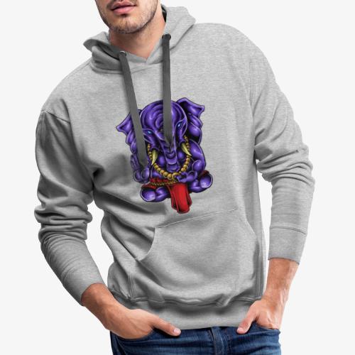 Gaṇesh - Sweat-shirt à capuche Premium pour hommes