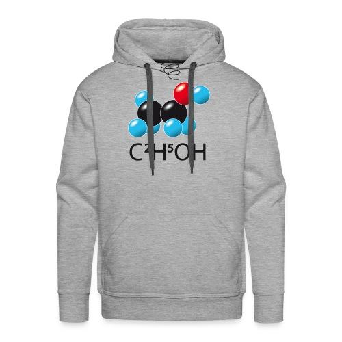 c2h5oh (sur Tshirts clairs) - Sweat-shirt à capuche Premium pour hommes