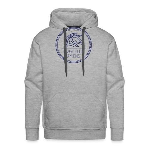 logo_2017-bleu - Sweat-shirt à capuche Premium pour hommes