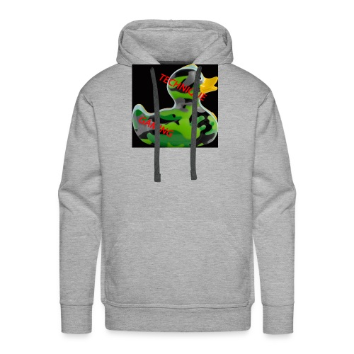 YOUTUBE NAME WITH A CAMO DUCK - Men's Premium Hoodie
