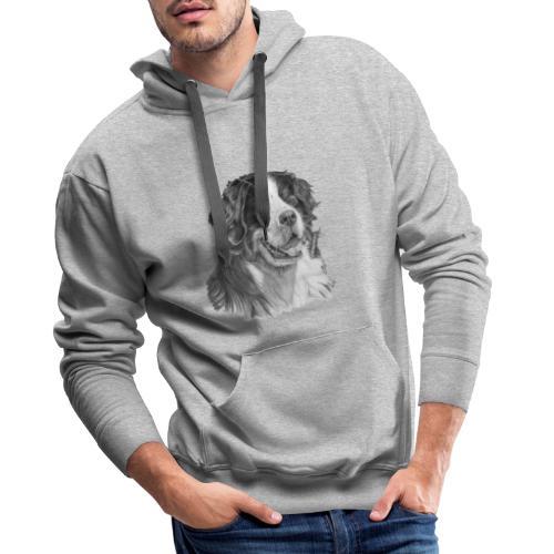 Bernese mountain dog - Herre Premium hættetrøje
