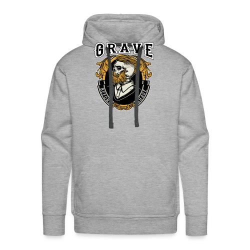 Grave Before Shave Bearded - Männer Premium Hoodie