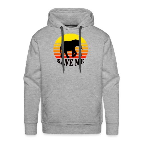 Elefant SAVE ME Schattenriss Sonne - Männer Premium Hoodie