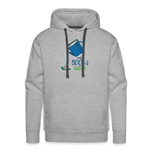 Only books can heal - Men's Premium Hoodie
