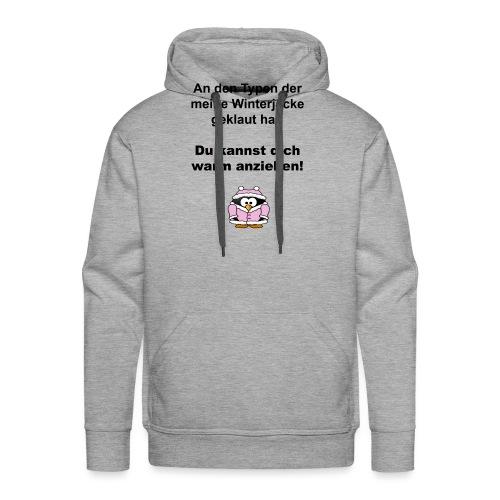 pinguin_winterjacke - Männer Premium Hoodie