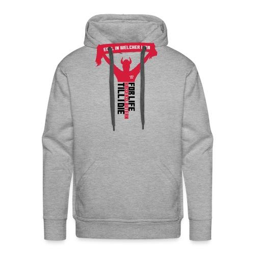 Egal in welcher Liga! Frauen Kontrast-T-Shirt - Männer Premium Hoodie