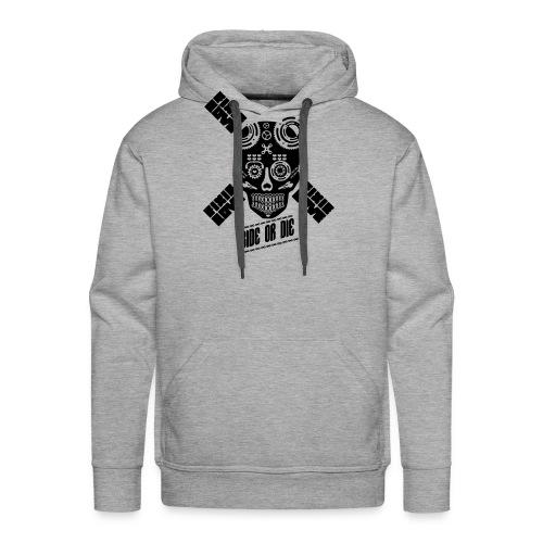skull riding ride or die - Sweat-shirt à capuche Premium pour hommes